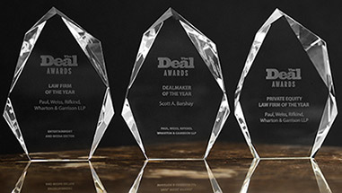 Paul, Weiss Named Private Equity Law Firm of the Year by The Deal