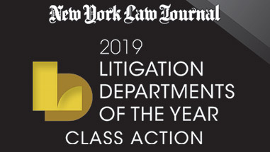 Paul, Weiss Named <em>NYLJ</em>'s 2019 Class Action Litigation Department of the Year