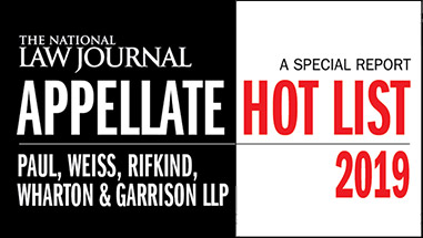 Kannon Shanmugam Featured in <em>The National Law Journal</em>'s 2019 Appellate Hot List