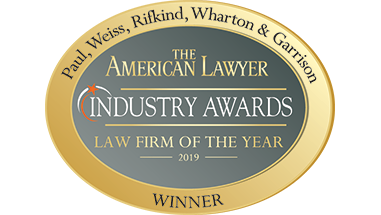 Paul, Weiss Is Named Law Firm of the Year, White Collar Litigation Department of the Year